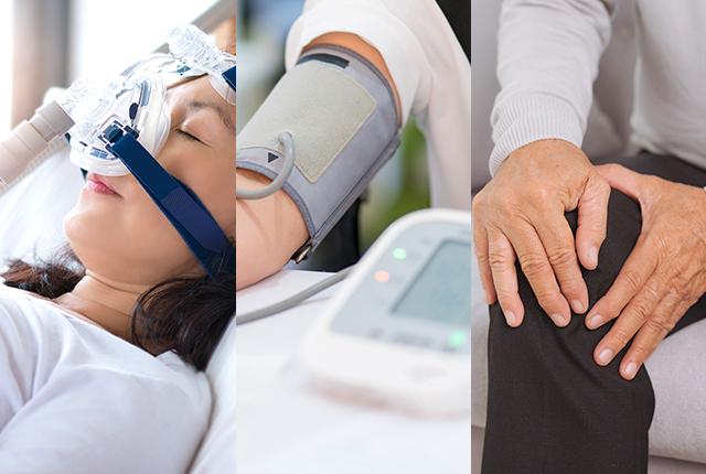 総合内科専門医による睡眠時無呼吸症候群、高血圧症、骨粗しょう症の治療